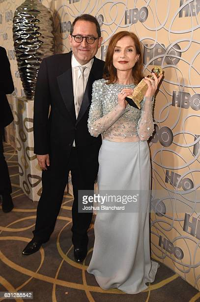 Sony Pictures Classics CoPresident Michael Barker and Isabelle Huppert attend HBO's Official Golden Globe Awards After Party at Circa 55 Restaurant...