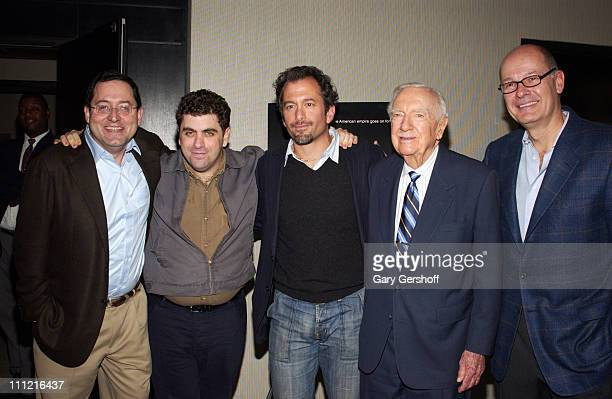 Sony Pictures Classics coPresident Michael Barker Eugene Jarecki Andrew Jarecki Walter Cronkite and Harry Smith attend the reception for the...