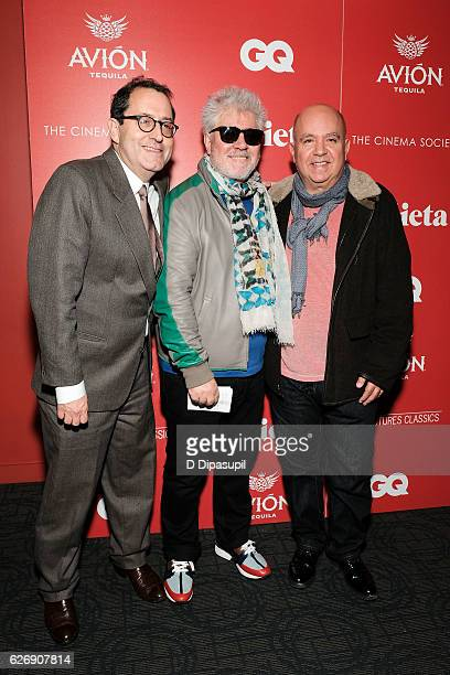 Sony Pictures Classics copresident Michael Barker writer/director Pedro Almodovar and producer Agustin Almodovar attend a screening of Sony Pictures...