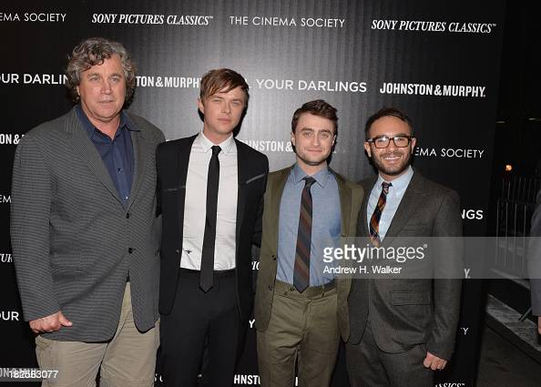 Sony Pictures Classics' CoPresident Tom Bernard actors Dane DeHaan Daniel Radcliffe and director John Krokidas attend The Cinema Society and Johnston...