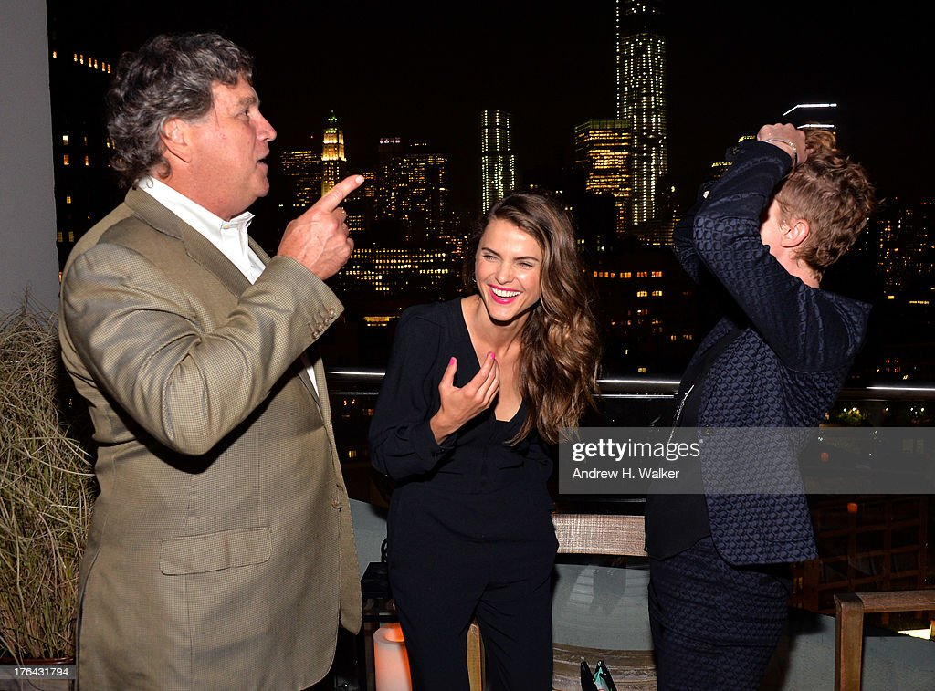 Sony Pictures Classics' Co-President Tom Bernard, Actress Keri Russell and Director Jerusha Hess attend the after party for The Cinema Society with Alice and Olivia screening of Sony Pictures Classics' 'Austenland' at Jimmy At The James Hotel on August 12, 2013 in New York City.
