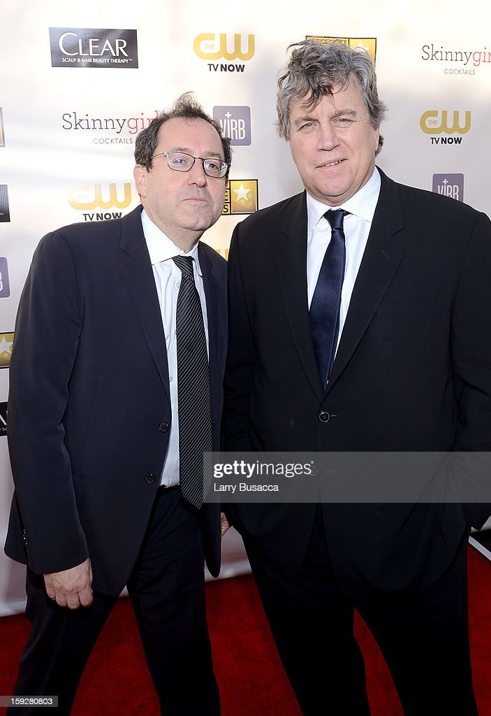 Sony Pictures Classics Co-Presidents Michael Barker (L) and Tom Barnard attend the 18th Annual Critics' Choice Movie Awards held at Barker Hangar on January 10, 2013 in Santa Monica, California.