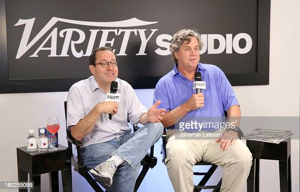 Sony Pictures Classics' CoPresidents Michael Barker and Tom Bernard speak at the Variety Studio presented by Moroccanoil at Holt Renfrew during the...