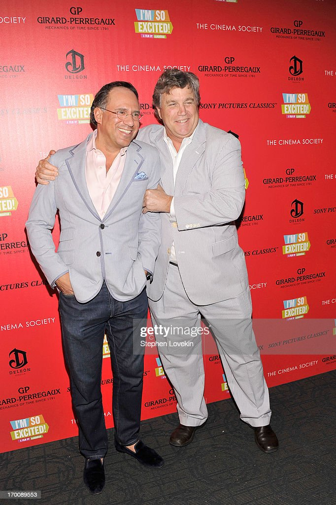Sony Pictures Classics Co-Presidents <a gi-track='captionPersonalityLinkClicked' href=/galleries/search?phrase=Tom+Bernard&family=editorial&specificpeople=204620 ng-click='$event.stopPropagation()'>Tom Bernard</a> (L) and <a gi-track='captionPersonalityLinkClicked' href=/galleries/search?phrase=Andrew+Saffir&family=editorial&specificpeople=570091 ng-click='$event.stopPropagation()'>Andrew Saffir</a> attend Girard-Perregaux And The Cinema Society With DeLeon Host a Screening Of Sony Pictures Classics' 'I'm So Excited' at Sunshine Landmark on June 6, 2013 in New York City.