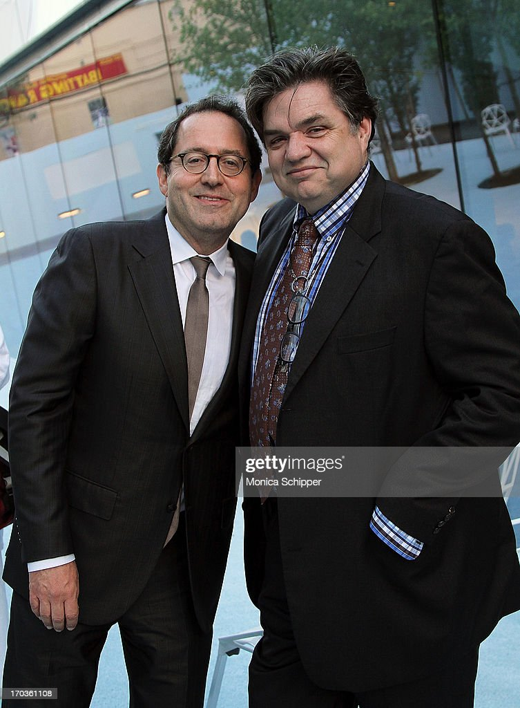 Sony Pictures Co-Founder and Co-President Michael Barker and actor <a gi-track='captionPersonalityLinkClicked' href=/galleries/search?phrase=Oliver+Platt&family=editorial&specificpeople=227248 ng-click='$event.stopPropagation()'>Oliver Platt</a> attend Museum of the Moving Image Inaugural Envision Award Gala Dinner at Museum of the Moving Image on June 11, 2013 in New York City.