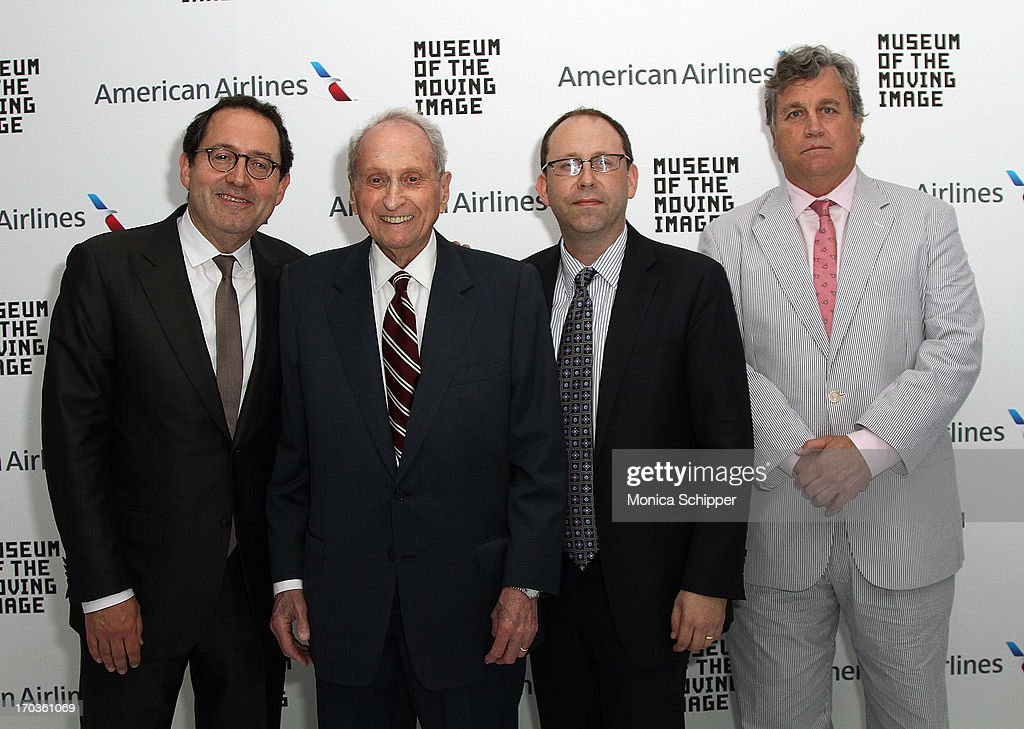 Sony Pictures Co-Founder and Co-President <a gi-track='captionPersonalityLinkClicked' href=/galleries/search?phrase=Michael+Barker+-+CEO&family=editorial&specificpeople=236048 ng-click='$event.stopPropagation()'>Michael Barker</a>, Museum Board President Herbert S. Schlosser, Museum Executive Director Carl Goodman and Sony Pictures Co-Founder and Co-President <a gi-track='captionPersonalityLinkClicked' href=/galleries/search?phrase=Tom+Bernard&family=editorial&specificpeople=204620 ng-click='$event.stopPropagation()'>Tom Bernard</a> attend Museum of the Moving Image Inaugural Envision Award Gala Dinner at Museum of the Moving Image on June 11, 2013 in New York City.