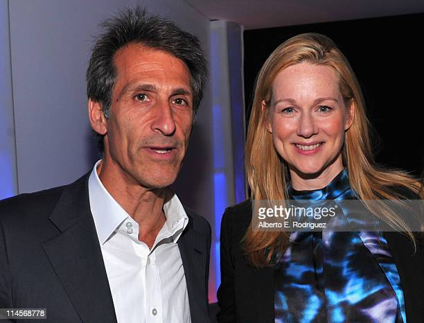 Sony Pictures Entertainment Chairman CEO Michael Lynton and actress Laura Linney attend Sony Pictures Television's LA Screenings at Sony Pictures...