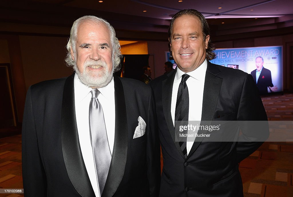 Sony Pictures' <a gi-track='captionPersonalityLinkClicked' href=/galleries/search?phrase=Jeff+Blake&family=editorial&specificpeople=213723 ng-click='$event.stopPropagation()'>Jeff Blake</a> (L) and guest attend AFI's 41st Life Achievement Award Tribute to Mel Brooks at Dolby Theatre on June 6, 2013 in Hollywood, California. 23647_002_MB_0778.JPG