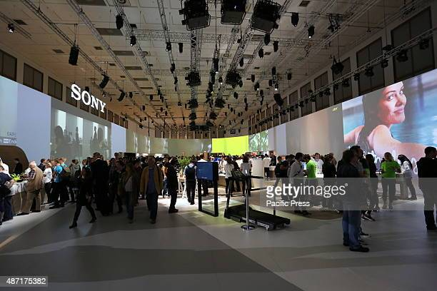 Sony presents the company' s recent electronic devices during IFA consumer electronics unlimited 2015 at Messe Berlin