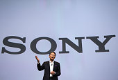 Sony President and CEO Kazuo Hirai speaks to members of the media during a press event for CES 2016 at the Mandalay Bay Convention Center on January...