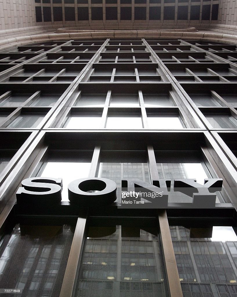 A Sony sign hangs at the Sony Tower in Manhattan October 26, 2006 in New York City. Sony announced that its third quarter profits dropped 94 percent following a global battery recall.