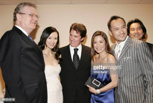 Sony USA chairman Howard Stringer actress Ziyi Zhang director Rob Marshall and actors Michelle Yeoh Ken Wantanabe and Koji Yakusho attend the Los...