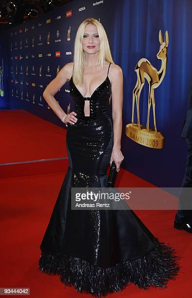 Sonya Kraus arrives to the Bambi Awards 2009 after show party at the Metropolis Hall at the Filmpark Babelsberg on November 26 2009 in Potsdam Germany