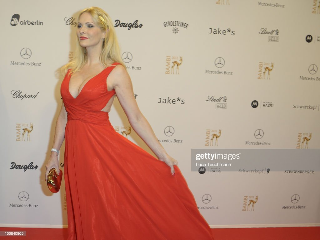 Sonya Kraus attends 'BAMBI Awards 2012' at the Stadthalle Duesseldorf on November 22, 2012 in Duesseldorf, Germany.