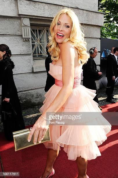 Sonya Kraus attends the 'Bayerischer Fernsehpreis 2010' at Prinzregententheater on May 21 2010 in Munich Germany