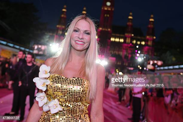 Sonya Kraus attends the Life Ball 2015 at City Hall on May 16 2015 in Vienna Austria