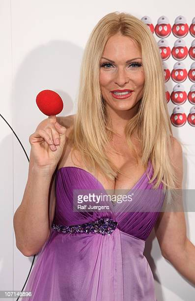 Sonya Kraus poses at photocall at Coloneum on November 25 2010 in Cologne Germany