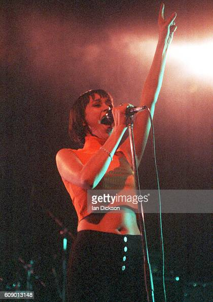 Sonya Madan of Echobelly performing on stage at The Forum Kentish Town London 17 February 1996