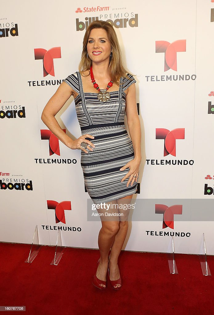 Sonya Smith attends Telemundo and Premios Billboard 2013 Press Conference at Gibson Miami Showroom on February 5, 2013 in Miami, Florida.