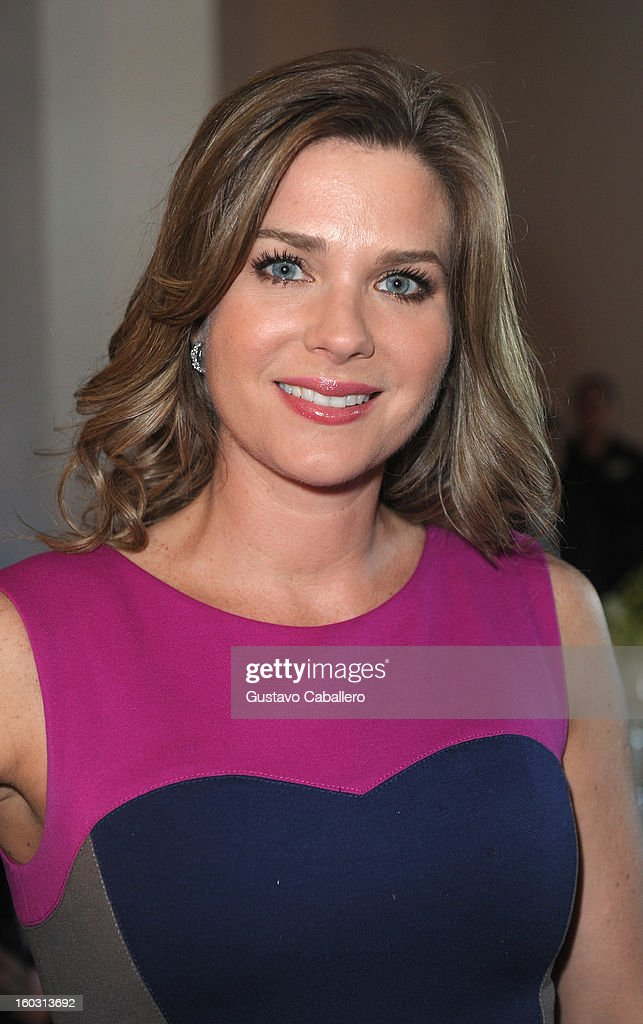Sonya Smith attends Telemundo NATPE 2013 Press Conference And Luncheon at Eden Roc Hotel on January 28, 2013 in Miami Beach, Florida.