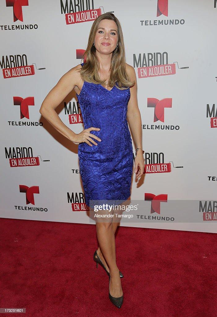 Sonya Smith attends Telemundo's 'Marido en Alquiler' Presentation at Telemundo Studios on July 10, 2013 in Miami, Florida.