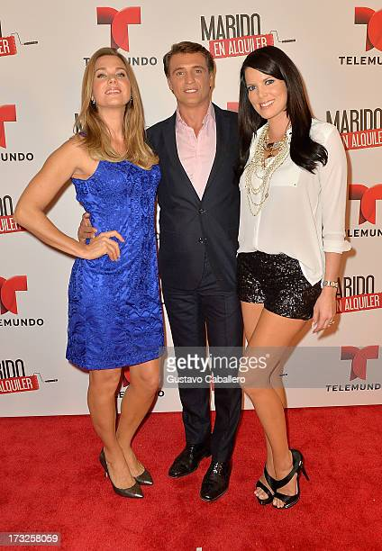 Sonya Smith Juan Soler and Maritza Rodriguez attends Telemundos 'Marido en Alquiler' Presentation on July 10 2013 in Miami Florida
