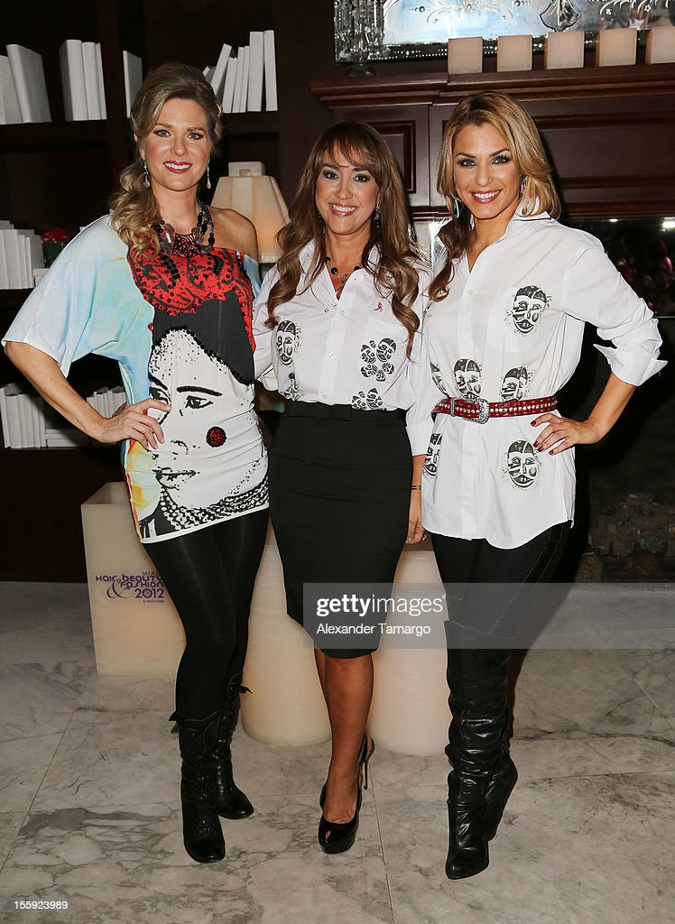 Sonya Smith, Rosita Hurtado and Rosina Grosso attend Miami Hair, Beauty & Fashion 2012 By Rocco Donna at Viceroy Hotel Spa on November 8, 2012 in Miami, Florida.
