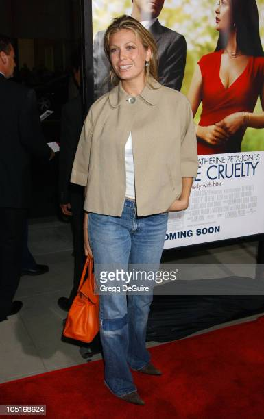 Sonya Walger during 'Intolerable Cruelty' Premiere Arrivals at Academy Theatre in Beverly Hills California United States