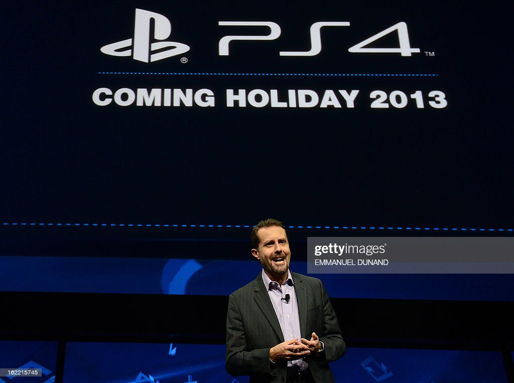 Sony's Andrew House, current president and Group CEO of Sony Computer Entertainment, introduces the PlayStation 4 at a news conference February 20, 2013 in New York.