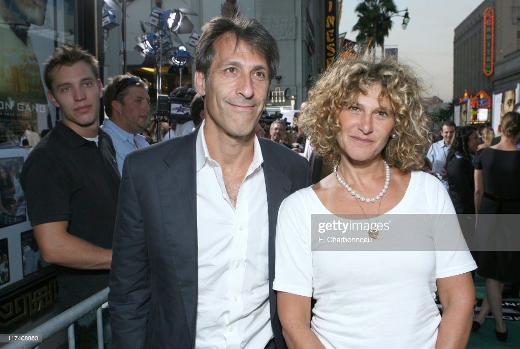 Sony's Michael Lynton and Sony's Amy Pascal during The Los Angeles Premiere of Columbia Pictures' 'Gridiron Gang' at Grauman's Chinese Theatre in Hollywood, California, United States.