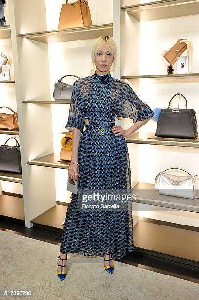 Soo Joo Park attends Fendi and Vogue Celebrate Fendi Beverly Hills at Fendi on March 24 2016 in Beverly Hills California