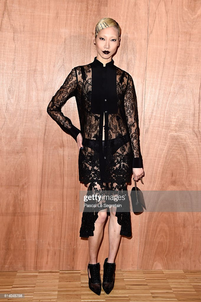 Soo Joo Park attends the Givenchy show as part of the Paris Fashion Week Womenswear Fall/Winter 2016/2017 on March 6 2016 in Paris France