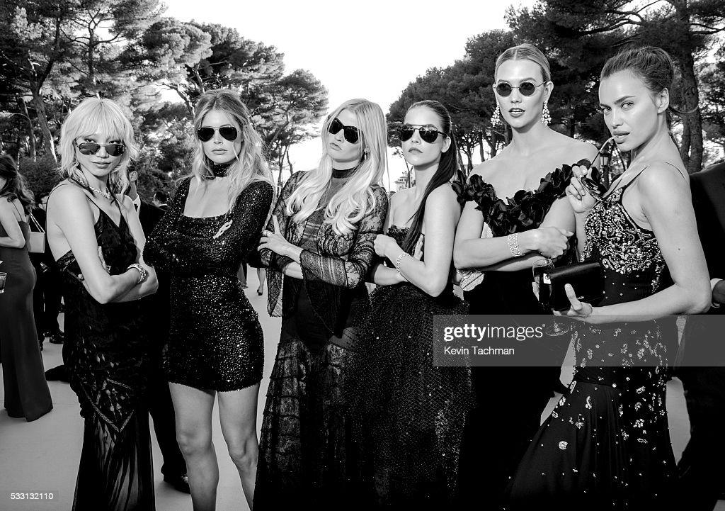Soo Joo Park Doutzen Kroes Lara Stone Barbara Palvin Karlie Kloss and Irina Shayk attend the amfAR's 23rd Cinema Against AIDS Gala at Hotel du...