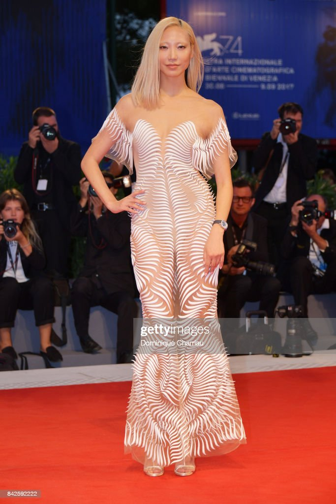 Soo Joo Park walks the red carpet ahead of the 'Three Billboards Outside Ebbing, Missouri' screening during the 74th Venice Film Festival at Sala Grande on September 4, 2017 in Venice, Italy.