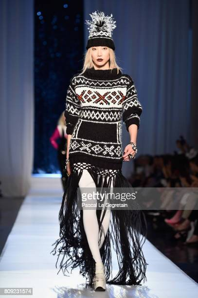 Soo Joo Park walks the runway during the Jean Paul Gaultier Haute Couture Fall/Winter 20172018 show as part of Haute Couture Paris Fashion Week on...