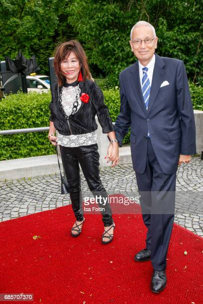 Soo Leng Kuchenreuther and guest attend the Bayerischer Fernsehpreis 2017 at Prinzregententheater on May 19 2017 in Munich Germany