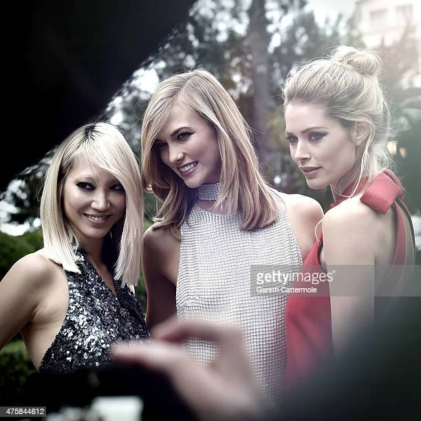 SooJoo Park Karlie Kloss and Doutzen Kroes attend amfAR's 22nd Cinema Against AIDS Gala Presented By Bold Films And Harry Winston at Hotel du...