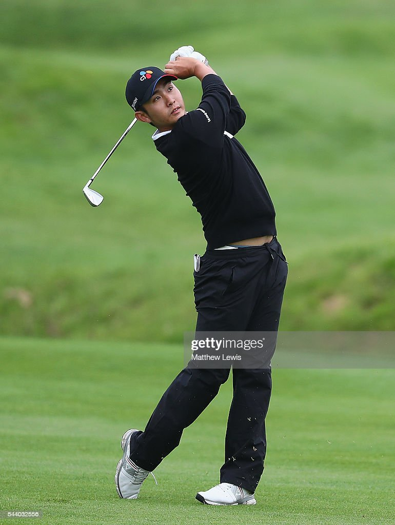 Soomin Lee of Korea plays a shot from the fairway during day two of the 100th Open de France at Le Golf National on July 1, 2016 in Paris, France.