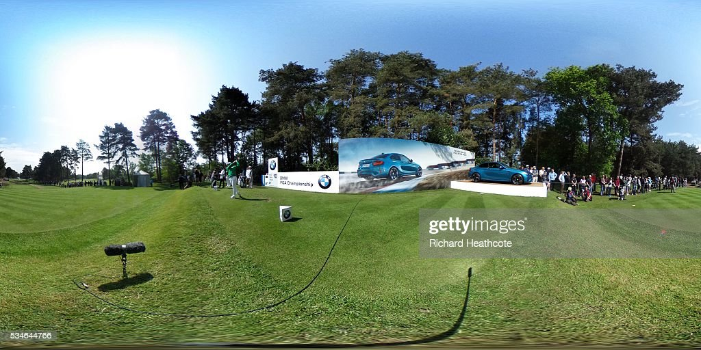 Soomin Lee of Korea plays from 10th tee during day two of the BMW PGA Championship at Wentworth on May 27, 2016 in Virginia Water, England.