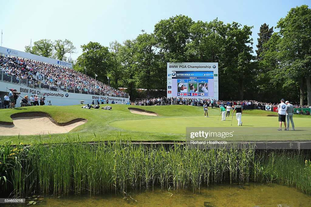 <a gi-track='captionPersonalityLinkClicked' href=/galleries/search?phrase=Soomin+Lee&family=editorial&specificpeople=14636393 ng-click='$event.stopPropagation()'>Soomin Lee</a> of Korea putts on the 18th green during day two of the BMW PGA Championship at Wentworth on May 27, 2016 in Virginia Water, England.