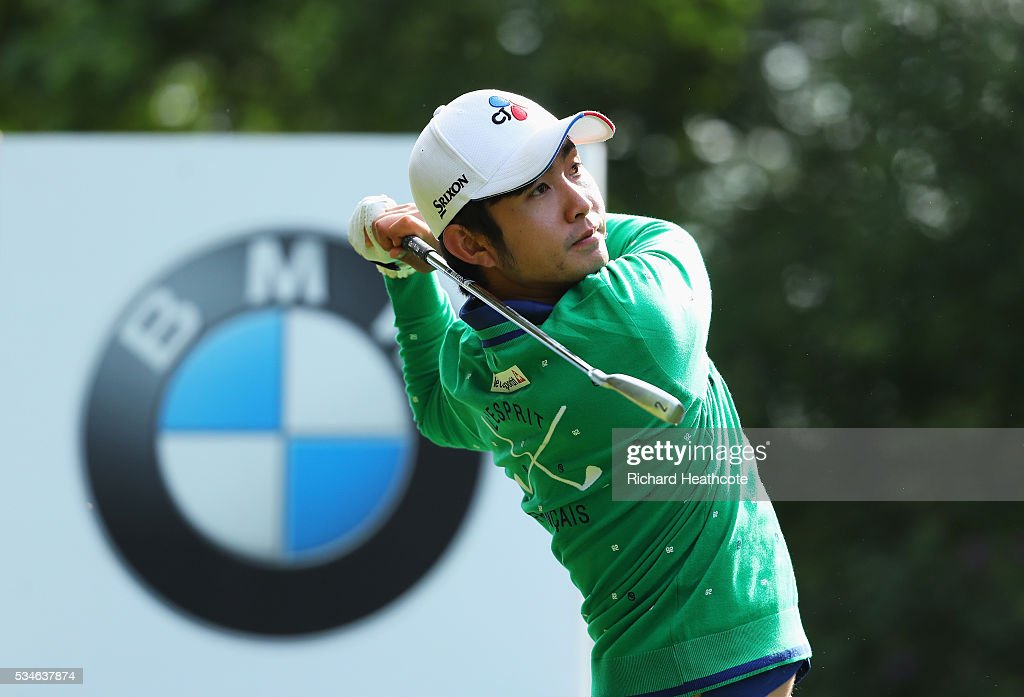<a gi-track='captionPersonalityLinkClicked' href=/galleries/search?phrase=Soomin+Lee&family=editorial&specificpeople=14636393 ng-click='$event.stopPropagation()'>Soomin Lee</a> of Korea tees off on the 4th hole during day two of the BMW PGA Championship at Wentworth on May 27, 2016 in Virginia Water, England.