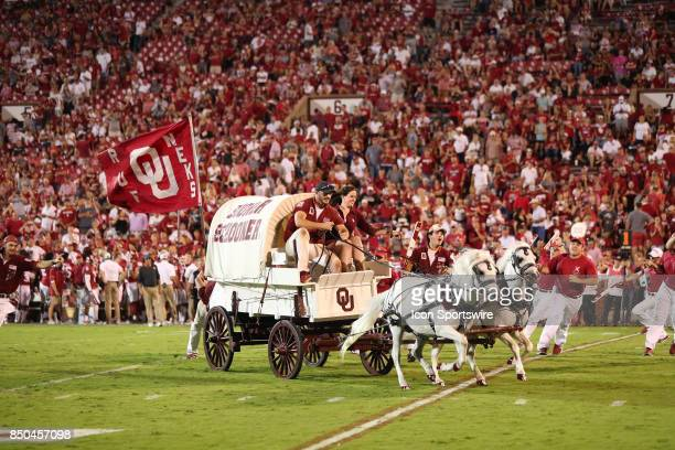 Sooner Schooner takes the field during a college football game between the Oklahoma Sooners and the Tulane Green Wave on September 16 at the Gaylord...