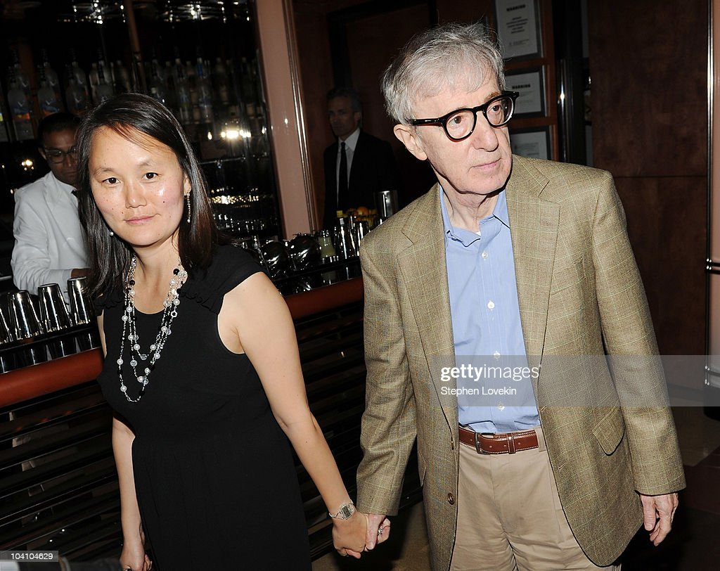 SoonYi Previn and director Woody Allen attend the after party for a screening of 'You Will Meet a Tall Dark Stranger' hosted by The Cinema Society...
