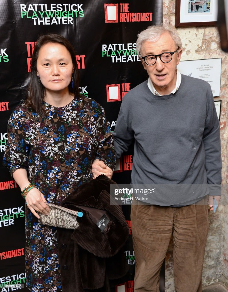 <a gi-track='captionPersonalityLinkClicked' href=/galleries/search?phrase=Soon-Yi+Previn&family=editorial&specificpeople=208814 ng-click='$event.stopPropagation()'>Soon-Yi Previn</a> and director <a gi-track='captionPersonalityLinkClicked' href=/galleries/search?phrase=Woody+Allen&family=editorial&specificpeople=202886 ng-click='$event.stopPropagation()'>Woody Allen</a> attend 'The Revisionist' opening night at Cherry Lane Theatre on February 28, 2013 in New York City.