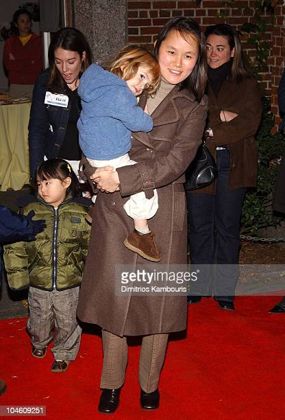 SoonYi Previn with son and daughter during Book Release Party For 'Philadelphia Chickens' at Central Park Zoo in New York City New York United States