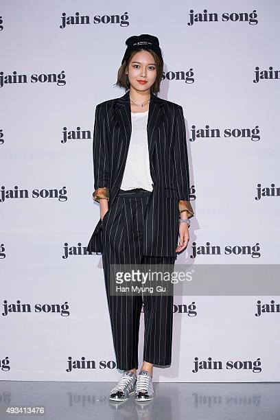Sooyoung of Girls' Generation poses for photographs at the 'Jain Song' show as part of HERA Seoul Fashion Week S/S 2016 at DDP on October 20 2015 in...