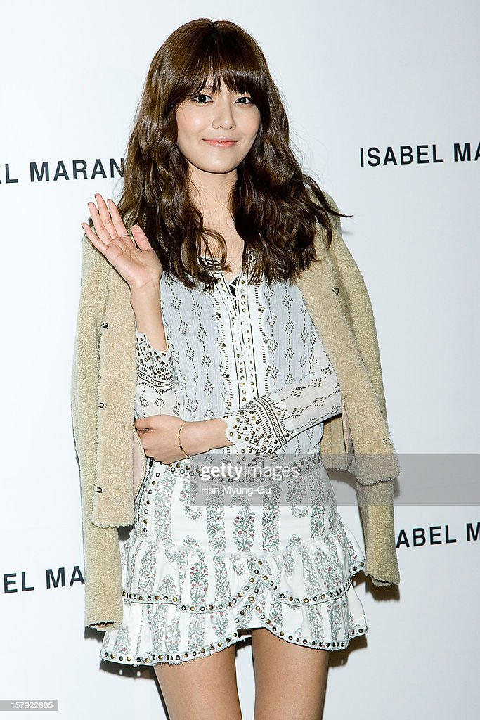Sooyoung of South Korean girl group Girls' Generation attends a promotional event of the 'Isabel Marant' Flagship Store Opening at Isabel Marant gangnam store on December 6, 2012 in Seoul, South Korea.