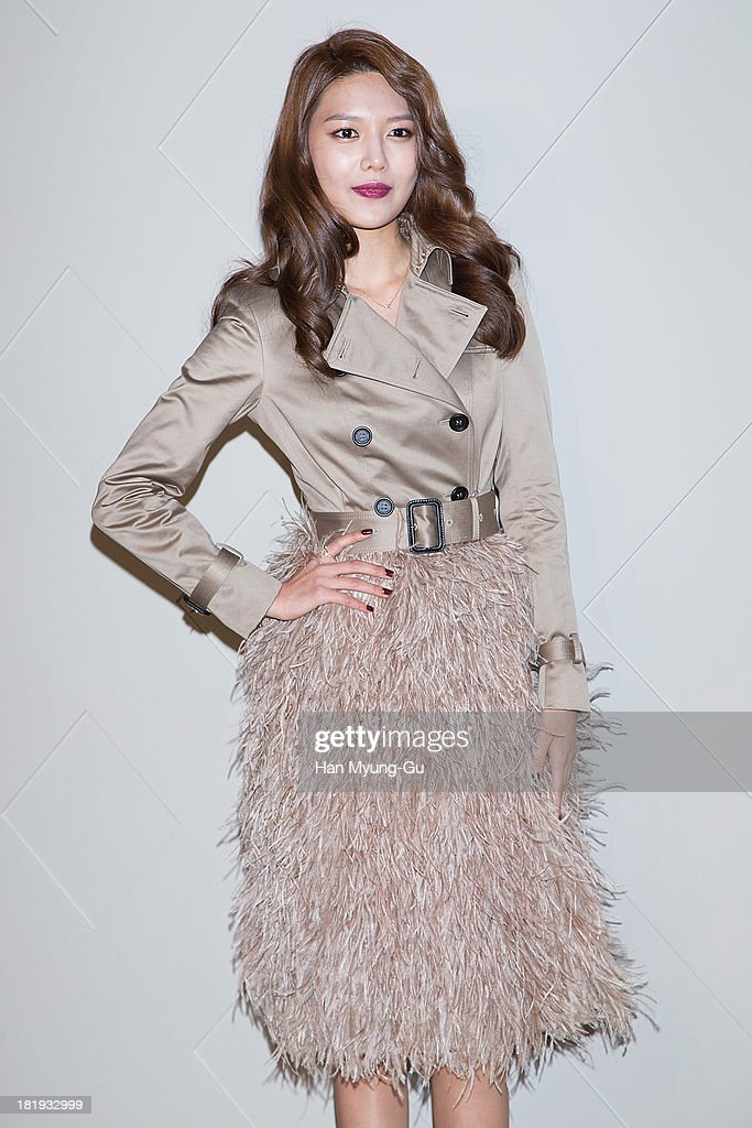 Sooyoung of South Korean girl group Girls' Generation attends Burberry 'Art of The Trench' on September 26, 2013 in Seoul, South Korea.
