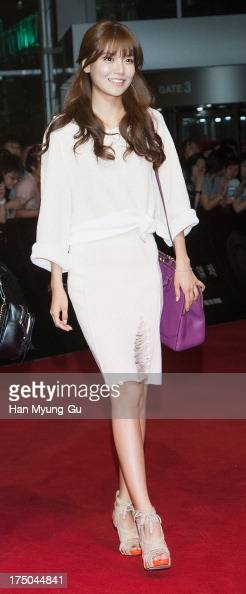 Sooyoung of South Korean girl group Girls' Generation attends the 'Snowpiercer' South Korea premiere at Times Square on July 29 2013 in Seoul South...
