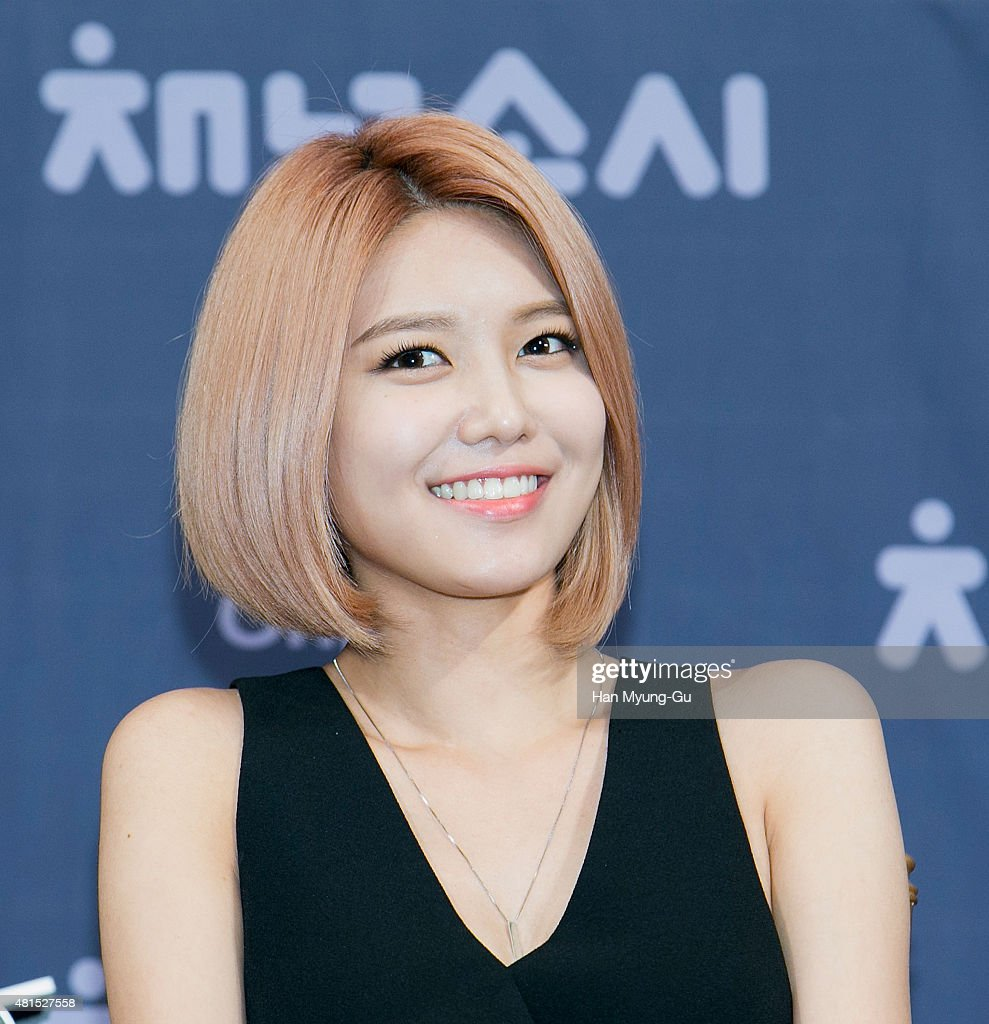 Sooyoung of South Korean girl group Girls' Generation attends the OnStyle 'Channel SNSD' Press Conference at Imperial Palace Hotel on July 21, 2015 in Seoul, South Korea. The program will open on July 21, in South Korea.